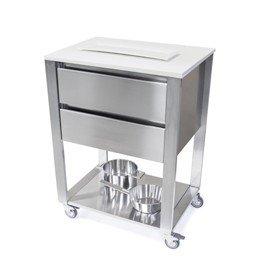 Keukentrolley 69,2 cm, RVS en wit Corian®