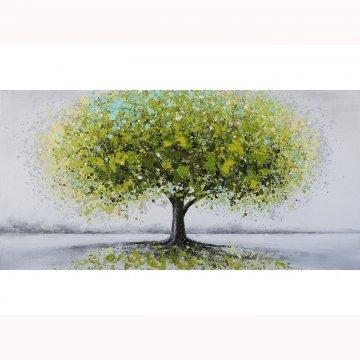 Canvas schilderij Groene Boom 60x120 cm
