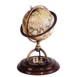 Globe met Kompas, Ø 14,5 cm