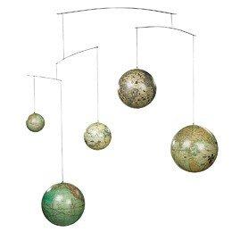 Mobile Globe,met 5 Globe's uit 5 eeuwen
