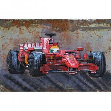 3D schilderij Rode Formule 1 Racewagen 80x120 cm