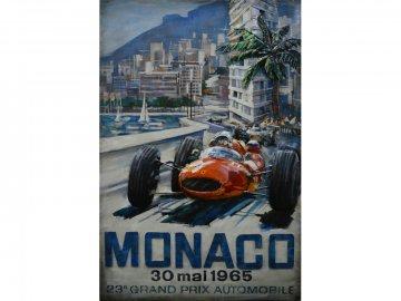 3D schilderij Poster voor GP van Monaco 120x80cm