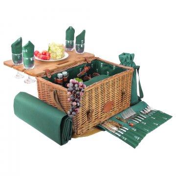 Picknickmand Saint-Honoré 4 pers. groen, op voorraad!