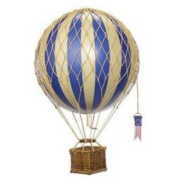 Luchtballon, blauw, Ø 8,5 cm