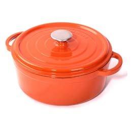 Cuisinova Gietijzeren Braadpan, oranje, 28 cm