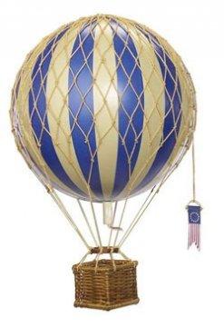 Luchtballon, blauw, Ø 18 cm